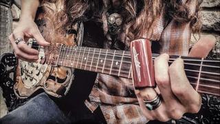 """LONG BLACK VEIL"" Country Slide Guitar Cover"