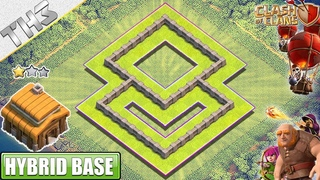 New BEST Town Hall 3 (TH3) Base with Town Hall inside the wall - Clash of Clans