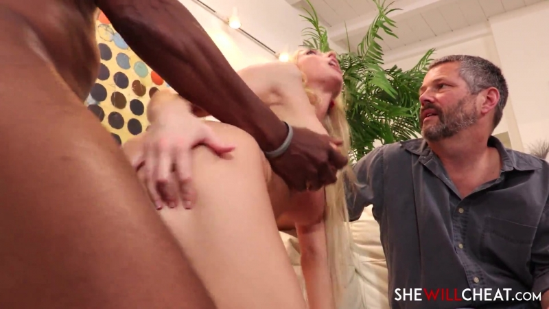 Blonde Hotwife fucks BBC in front of Cuckold Husband | Interracial