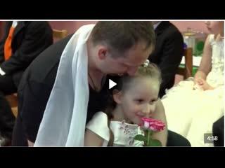 Танец Отец и дочь в детском саду! Дети и их родители довели зал до слёз