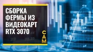 Сборка фермы за 250000 тысяч рублей из видеокарт PALIT JET STREAM RTX 3070 #ферма #RTX3070  #майнинг