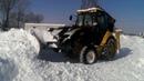 Снежный боковой отвал на погрузчик экскаватор CAT, JCB, New Holland, Komatsu и прочие