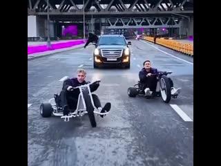 "MORGENSHTERN & Элджей продолжают кататься на съемках нового клипа ""Cadillac"" Рэп Волна"
