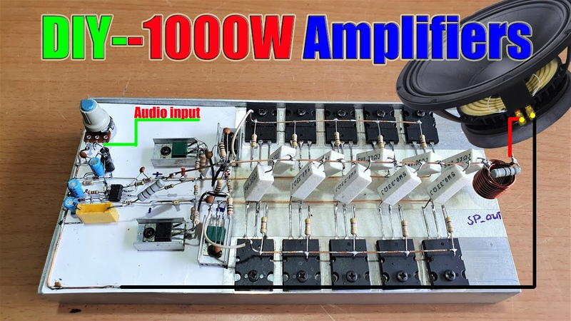 Diy 500 Watts Mono High Power Amplifier Using Transistors 2SC5200 and 2SA1943 V1
