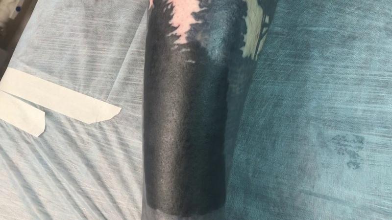 Tattoo Blackwork Process Forest Тату Блэкворк Процесс Лес