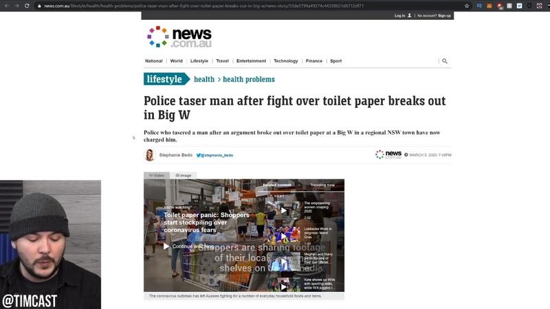 Expert Warns Coronavirus Most Frightening Disease Ever Seen Man TASED Fighting For Toilet Paper