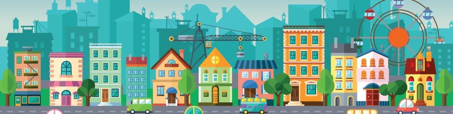 Картинки для детей улица города с домами
