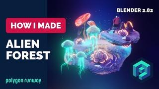 Alien Forest in Blender 2.8 - 3D Modeling Process