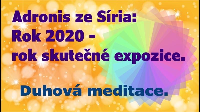 Adronis ze Síria Rok 2020 je skutečně rokem expozice