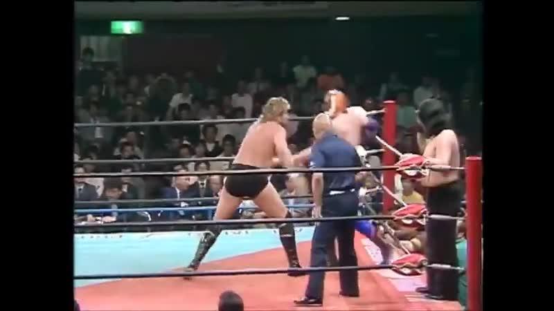 WH АЖПВ Карнавал Чемпионов 1987 Маска Тигра II Великий Кабуки vs Тед ДиБиаси Пит Робертс
