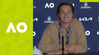 "Aryna Sabalenka: ""It wasn't really easy"" press conference (2R) | Australian Open 2021"