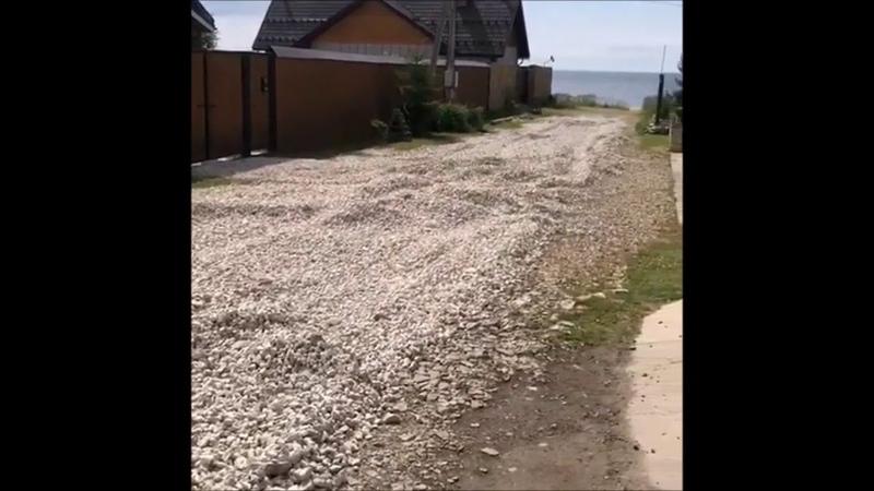 Ремонт дороги на улице Большая Садовая силами горожан и местной власти июнь 2020 г