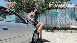 Andrada Maria Pascu - Girls Clothes Model Supercut (Leggings + Bodycon Dress + Latex Catsuit)