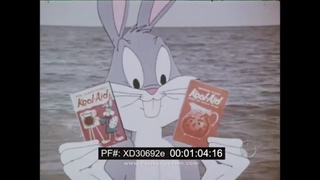 1960s ANIMATED KOOL AID DRINK MIX TV COMMERCIAL w/ BUGS BUNNY XD30692e