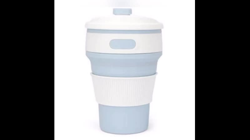 Портативный складной термостакан ⠀⠀🥤 Очень удобный, раскладывается для любого объёма жидкости. ⠀⠀🥤 Крышка плотно закрывает чаш