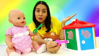 Spielspaß mit Valeria. Neues Spielzeug für Baby Born. Puppen Video für Kinder.