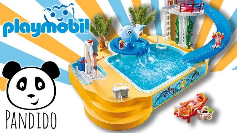 ⭕ Playmobil Schwimmbad ausgepackt und angespielt Pandido TV