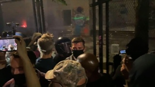 Federal agents tear gas Portland Mayor