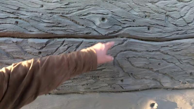 Как сделать декоративную штукатурку на фасаде дома в виде старого дерева из арт бетона