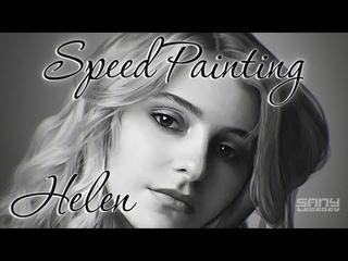 Portrait of Helen — Speed Painting (Digital)