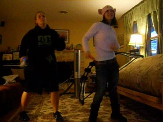 Playing wii with olya just dance2 the best game ever