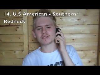 24 акцента английского языка , русский язык , произношение