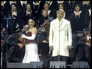 Andrea Bocelli & Tamar Iveri. BATUMI. GEORGIA