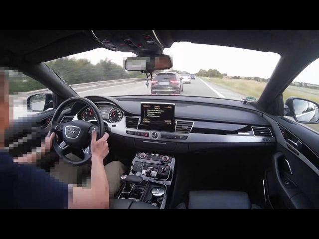 Audi A8L 4 2TDI V8 vs Audi S3 2 0TFSI Onboard POV Real Life Story On German Autobahn