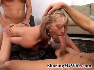 Short hair wife with nice tits makes her husband watch 26 min