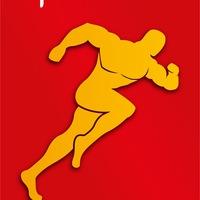 Логотип РУССКИЕ ПРОБЕЖКИ! Русские за ЗОЖ! Новосибирск