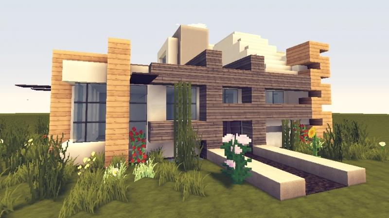 как построить модерн дома в майнкрафте 1.7.2 видео #5