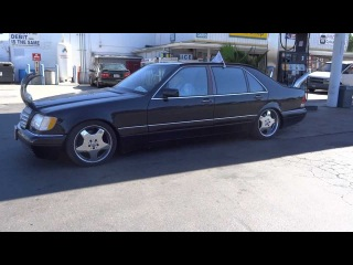 Bull Shipper Mercedes Benz W140 S500 AMG Stacks Pipes Custom Air Suspension Horns Redneck