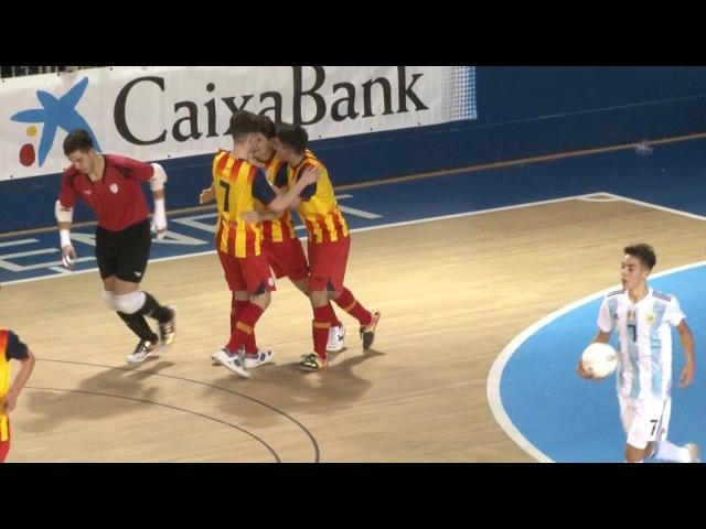 1r Partit Preparatori Catalunya sub 19 - Argentina sub 18 de Futbol Sala
