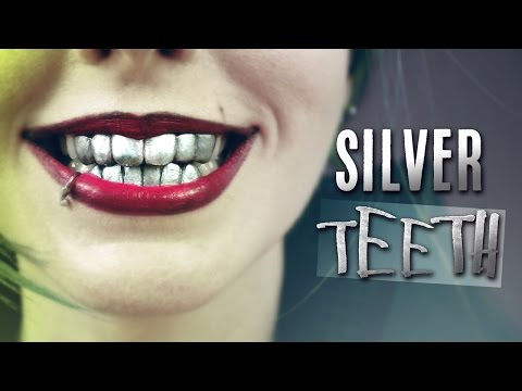 Silver Grillz Dientes Metálicos · How to make fake metallic Joker teeth denture with thermoplastic