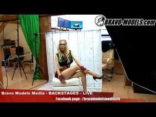 Bravo Models Media - Prague - photo shoots backstages - erotic model FLORANE RUSSEL - 02