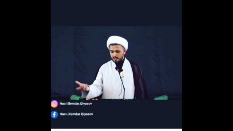 Hacı Ələmdar Kim desə imam Hüseyn ölüb