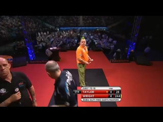Phil Taylor vs Peter Wright (2015 Dubai Duty Free Darts Masters / Quarter Final)