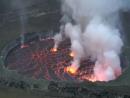 Вулкан Ньирагонго в ДР Конго
