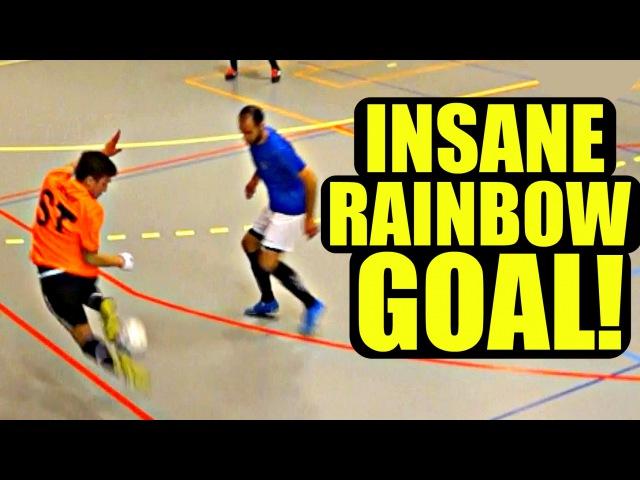 Perfect Skills   SkillTwins INSANE RAINBOW NUTMEG Futsal Goal! ★