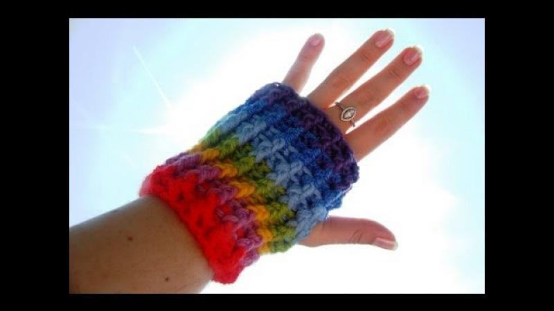 Mitenki rękawiczki na szydełku