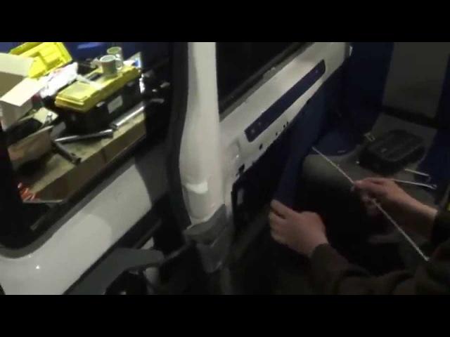 Установка реечного электропривода КРОКО на сдвижную дверь FORD TRANZIT (Форд Транзит)