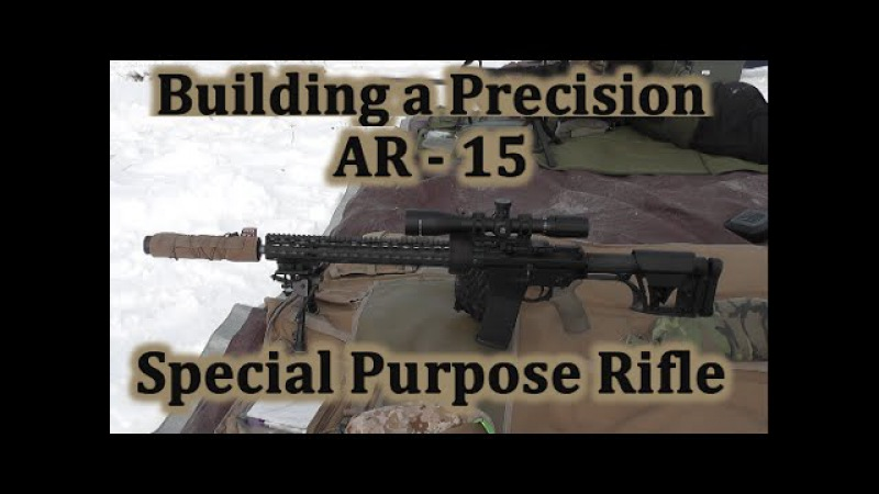 Building a Precision AR 15 SPR 4 First Shots - Wow it's quiet!