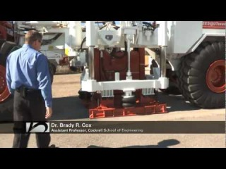 Dr. Brady Cox demos a Large-Scale Mobile Shaker used for Earthquake Simulation
