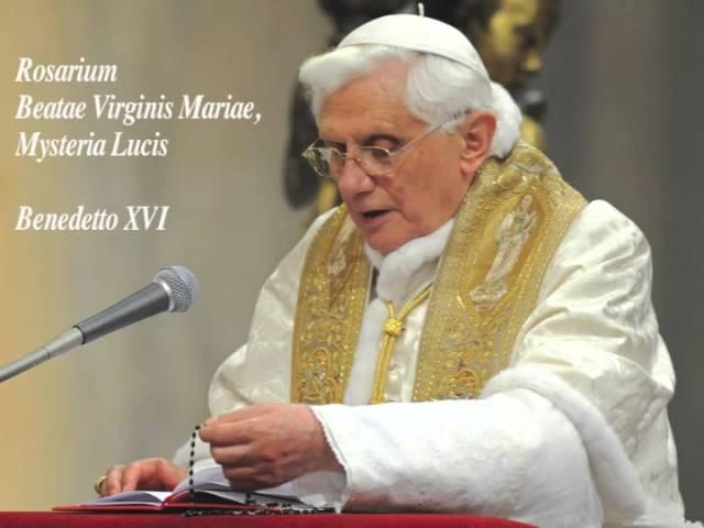 Rosario in Latino di Benedetto XVI Misteri Luminosi