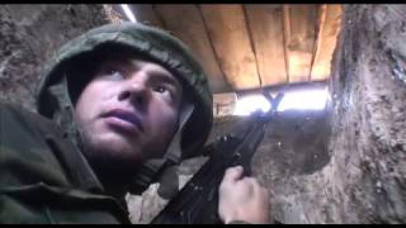 Интервью ополченца Черепа журналисту Леониду Канферу под артиллерийским обстр