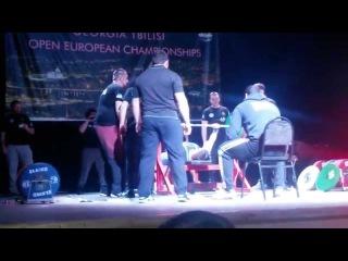 Роман Еремашвилижим лёжа 210 кг GPA/IPO Чемпионат Европы 2015 Тбилиси Грузия