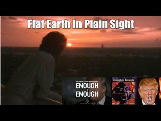 "Flat Earth In 1984 Movie & Music Videos - The Illuminati Card Game - Donald Trump ""Enough Is Enough"""