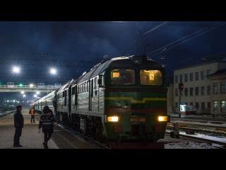 Смена локомотива ДС3-011 на 2М62-1076 по ст.Коростень