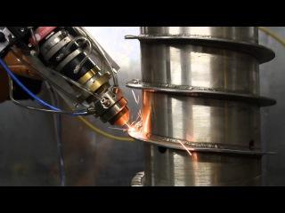 Лазерная наплавка гребня шнека
