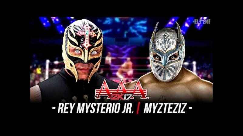 Rey Mysterio vs Myzteziz | AAA Epic Match | Triplemania 2017 in WWE 2K17